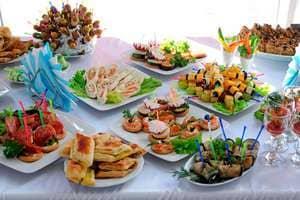 блюда для вечеринки