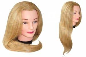 манекен для причесок с волосами